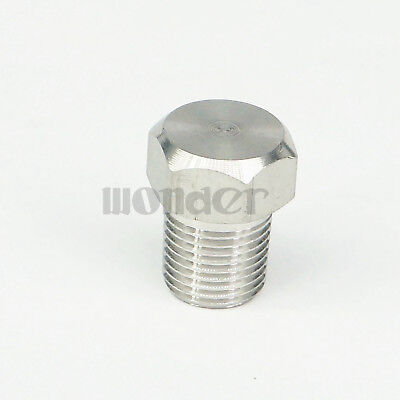 """1/8"""" BSPT male End Cap 304 stainless steel Countersunk Plug hex head"""