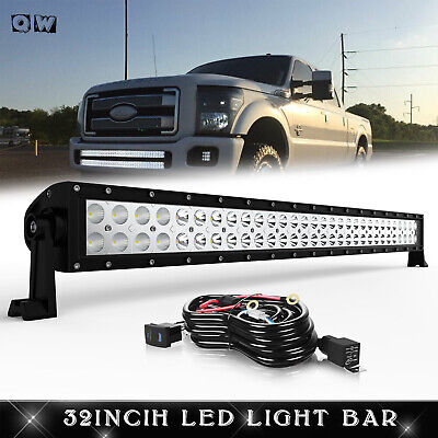 "32"" 180W LED Light Bar+4"" Cree Pods+Wiring FIT ATV FORD UTV DODGE TOYOTA"