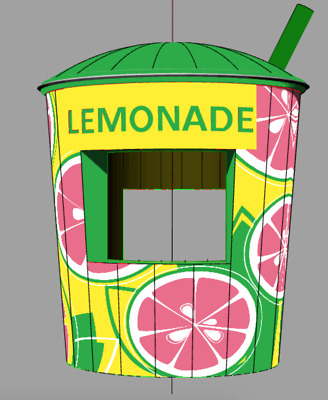 Inflatable Lemonade Cup Concession Stand - Pink Version