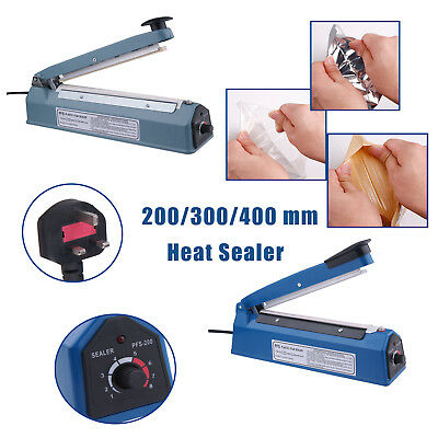 Impulse Heat Sealer PE PP Plastic Bag Filling Sealing Machine 300/400/500W UK