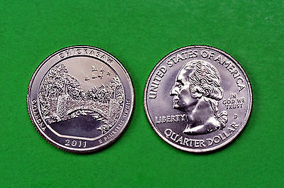 2011- P& D  BU  Mint State (Chickasaw) US National  PARK Quarters ( 2 Coins)