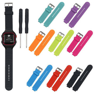 New Replacement Silicone Watch Wrist Band Sport For Garmin Forerunner 25 male