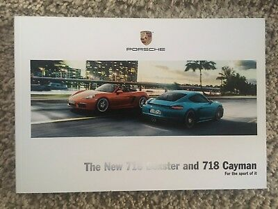 The New 718 Boxster and 718 Cayman Sales Brochure
