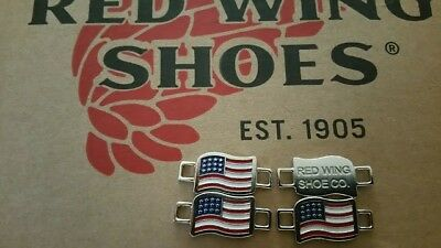 Red Wing Boot Lace Keepers American Flag Two pairs