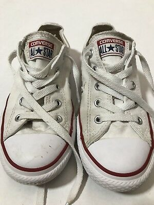 3ae594fb14cd Converse Size 1 All Star Low Top Kids Sneakers Tennis Shoes White Chuck  Taylor