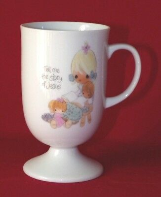 """Precious Moments Pedestal Cup, """"Tell Me the Story of Jesus"""""""