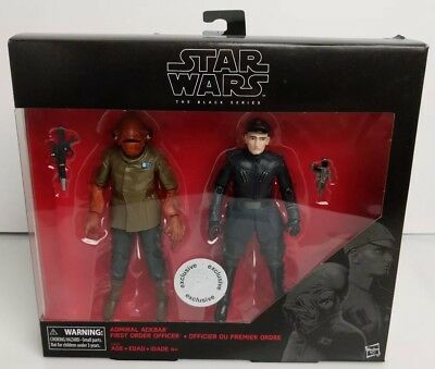 Star Wars The Black Series 6 Inch Admiral Ackbar And First Order Officer Acti... Sonstige