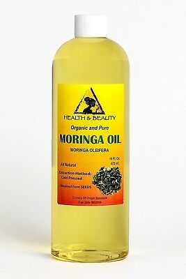 Moringa Oleifera Oil Organic Carrier Cold Pressed Natural Fresh 100% Pure 470ml