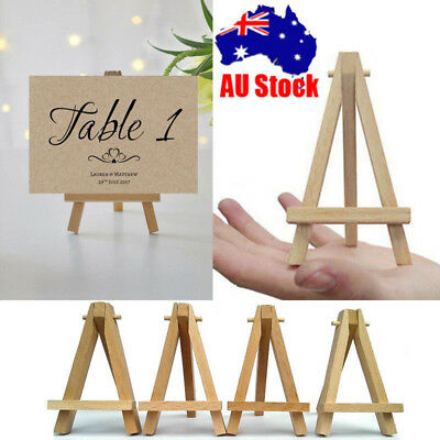 "Mini Artist Wooden Easel Photo Card Stand For Party Home Decoration 6"" 9.5"" AUS"