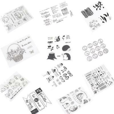 11Styles Silicone Clear Transparent Stamp Seal Card Scrapbooking Photo Craft DIY