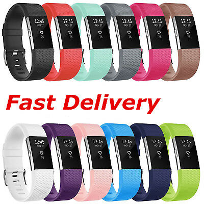 For FitBit Charge 2 Watch Band Replacement Strap Classic Metal Buckle Wristband
