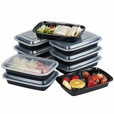 10/20PCS Reusable Meal Prep Food Containers Plastic Lunch Box Microwavable AU