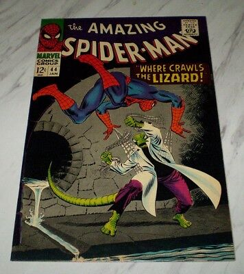 Amazing Spider-man #44 NM 9.4 Cr/OW pages 1967 Marvel Silver age - 2nd Lizard