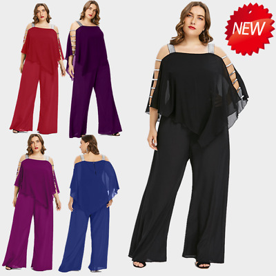 5c91a2f94a4cc 2018 Fashion Ladder Cut Out Rompers Cocktail Party Jumpsuits Batwing Plus  Size