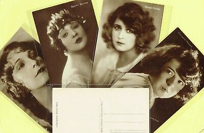 CINEMAGAZINE - 1920s Silent Film Star Postcards issued in France #156 to #290