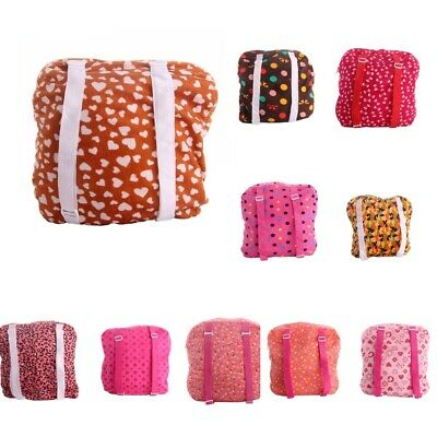 """18/"""" DOLL CARRIER Backpack PINK HEARTS Travel Bag Storage Case for American Girl"""