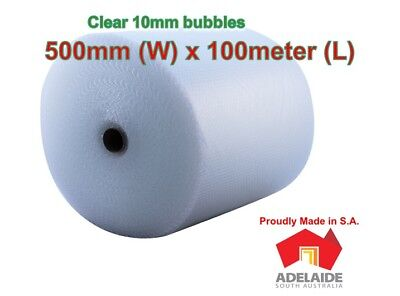 New 500mm x 100M Bubble Wrap Roll Clear (FREE SHIPPING to Adelaide Metro only)
