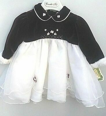 Girl baby occasional dress ex spanish designer vintage style 9/12m wedding party