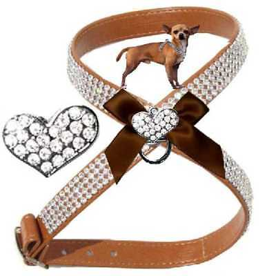 CHIHUAHUA HUNDE STRASS Brustgeschirr Softgeschirr Made in