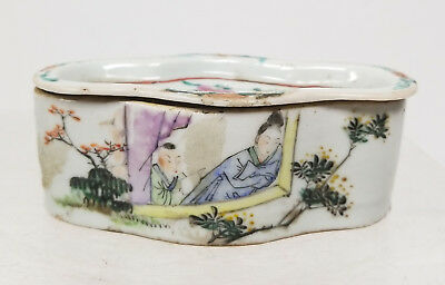 Antique Chinese Republic Style Period Cricket Cage Porcelain Signed