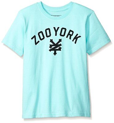 Zoo York Mens Big Boys Short Sleeve Crew Neck Shirt Immergruen White 14//16 Large