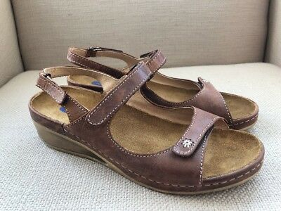 d1e29701c2d3 EILEEN FISHER IVY Sandals Wedge Black Leather Size 7.5 New -  86.63 ...