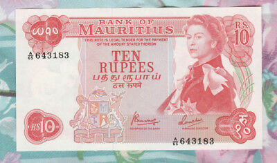 Mauritius Banknote 10 Rupees ND (1967) P-31c UNC @^
