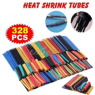 328Pcs/Set Heat Shrink Tubing Insulation Shrinkable Tube 2:1 Wire Cable Sleeve