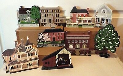 Sheila's Collectibles Mixed Lot Of 9 Houses, Historical Sites, And More