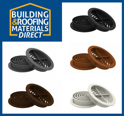 10 x 70mm Round Circular Soffit Vents Roof Ventilation Eaves Caravan Vivarium