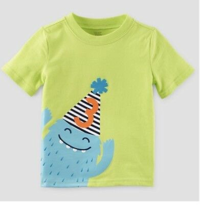 Toddler Boys 3rd Birthday T-Shirt by Carter's Just One You NWT