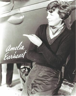 Amelia Earhart 8X10 Photo Female Aviation Pioneer Picture Earheart