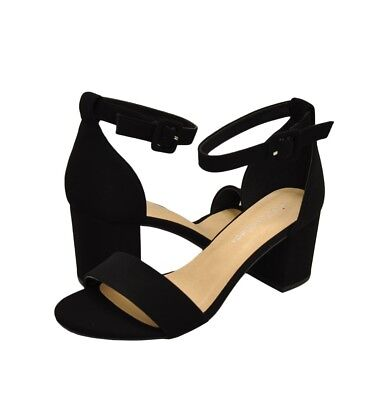c9481a95d7d WOMEN'S SHOES CITY Classified Cake S Open Toe Ankle Strap Heels Black *New*