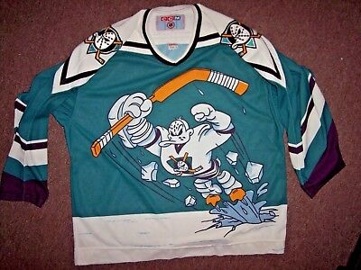online store 2ce5f d265a VINTAGE MIGHTY DUCKS Hockey Jersey