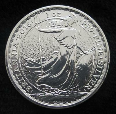 2016 Britannia * 1 Ounce Silver * United Kingdom * 2 Pounds * 99.9% Silver