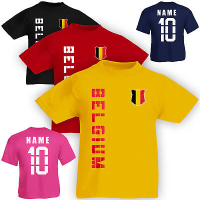 WM 2018 Belgien BELGIUM T-Shirt Trikot Name Nummer Mini WM