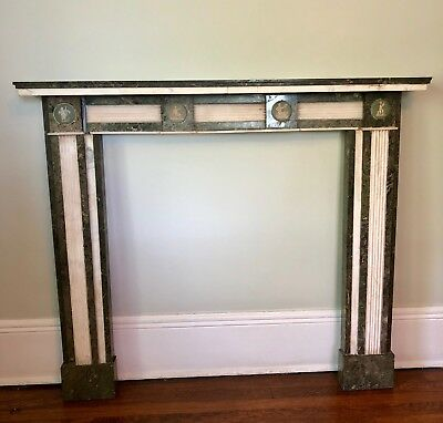 New York PLAZA HOTEL Antique Marble Fireplace