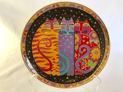 Franklin Mint Fanciful Felines Laurel Burch Ltd. Edition Plate No. HA4434
