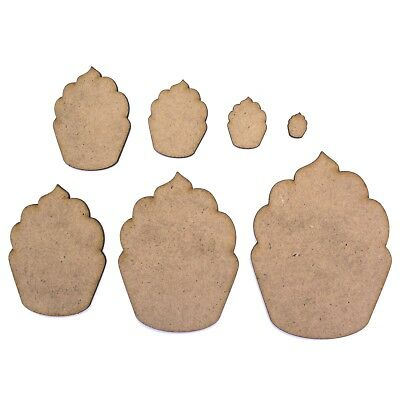 Cupcake Craft Shape, Various Sizes, 2mm MDF Wood. Party