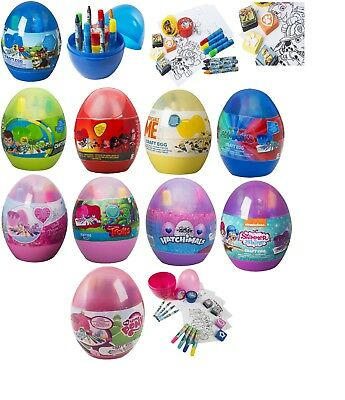 Kids Craft Eggs Painting,Drawing,Marker,Crayons,Stamps,Finger Paint Pots Gift 3+