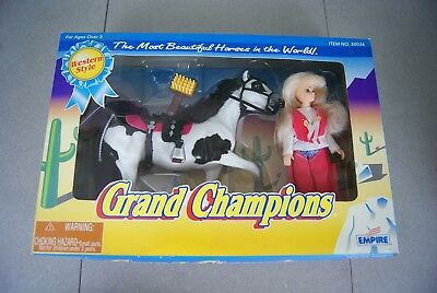 """Rare1993 Marchon Grand Champions Western Style """"Lucky Chance"""" Pinto MIP Rider"""
