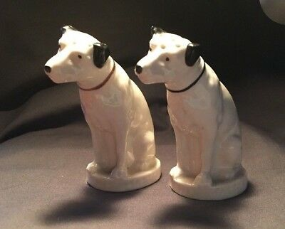 "Vintage Lenox RCA Victor Salt & Pepper Shakers Nipper ""His Master's Voice"""