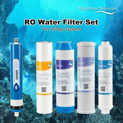 MS® 50/75/100/150 GPD Reverse Osmosis Water Filter 5-Stage RO System Replacement