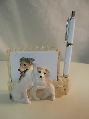 E&S Imports JACK RUSSELL MAGNETIC NOTE PAD & Pen NEW #46480-17 or DESKTOP