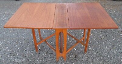 Bendt Winge Gate Leg Teak Dining Table Danish Mid Century Modern Drop Leaf