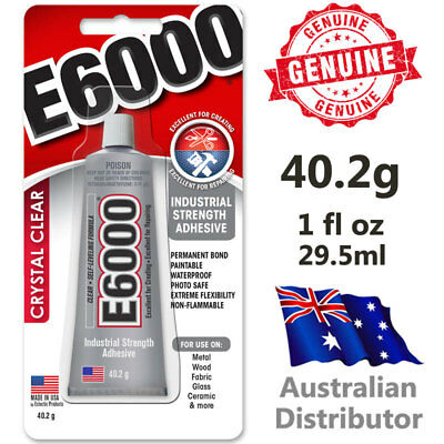 E6000 Industrial Strength Glue Craft Adhesive 1oz / 29.5ml Tube - 100% Genuine