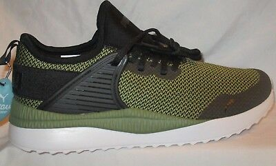 MEN S PUMA PACER Next Cage Gk Black-Capulet Olive Running Shoes Size ... d5dc7f376