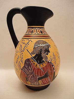 God Zeus & Goddess Hera Rare Ancient Greek Art Pottery Vase Hydria Hand Painted