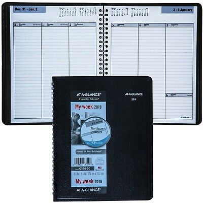 2019 At-A-Glance DayMinder G590-00 Weekly Planner With No Appointment Times