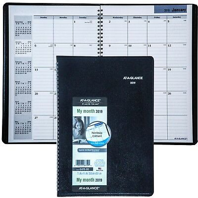2019 At-A-Glance DayMinder G470, G470-00 Monthly Planner, 7-7/8 x 11-7/8""